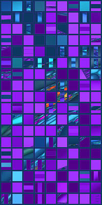 Digital Art - Mosaic In Teal And Purple by Judi Suni Hall