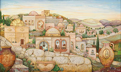 Jerusalem Painting - Mosaic Jerusalem  by Michoel Muchnik