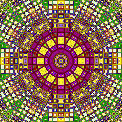 Digital Art - Mosaic Kaleidoscope 3 by Shawna Rowe