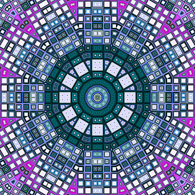 Digital Art - Mosaic Kaleidoscope 5 by Shawna Rowe