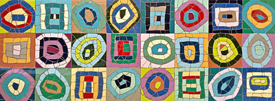 Ceramic Art - Mosaic Kandinsky Abstract Art by Felicity Ball