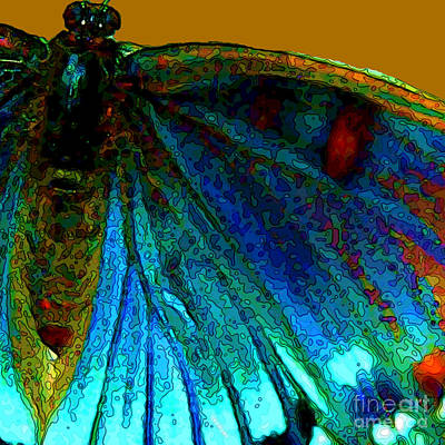Digital Art - Mosaic Moth Cameo Two by Herb Paynter
