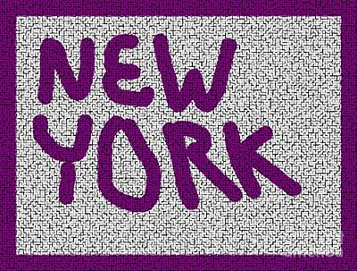 Photograph - Mosaic New York Purple Version by Joseph Baril