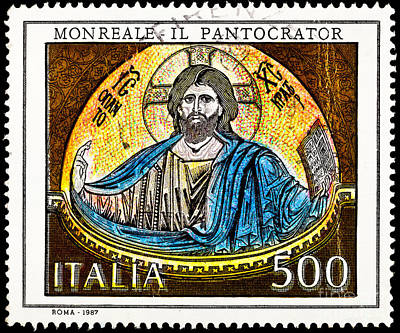Mosaic Of Jesus  Art Print