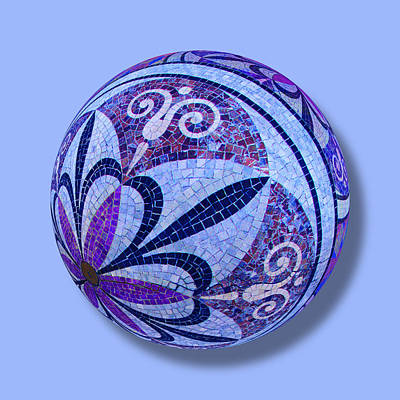 Painting - Mosaic Orb 1 by Tony Rubino