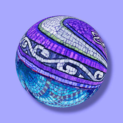 Painting - Mosaic Orb 2 by Tony Rubino
