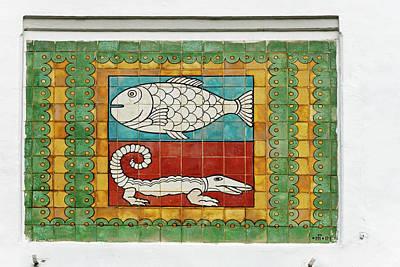 Mural Photograph - Mosaic Painting, Jakarta, Indonesia by Keren Su
