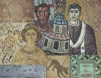 Mosaic-collage Mixed Media - Mosaic by Phillip Castaldi