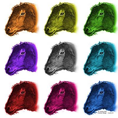 Digital Art - Mosaic Polled Dorset Sheep - 1643 M Wb by James Ahn