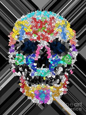 Mosaic Skull Art Print by Mauro Celotti