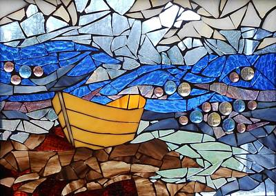 Stained Glass Fish Glass Art - Mosaic Stained Glass - Dory  by Catherine Van Der Woerd