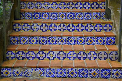 Flight Of Stairs Photograph - Mosaic Steps by Laurie Perry