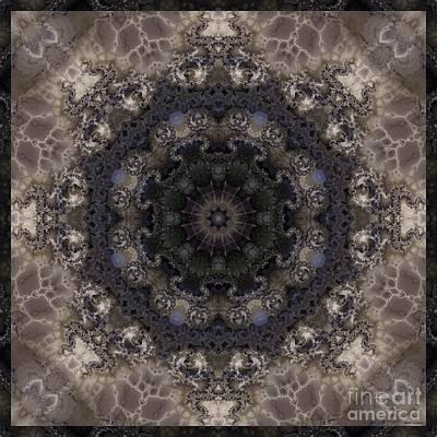 Mosaic Tile / Gray Tones Art Print by Elizabeth McTaggart