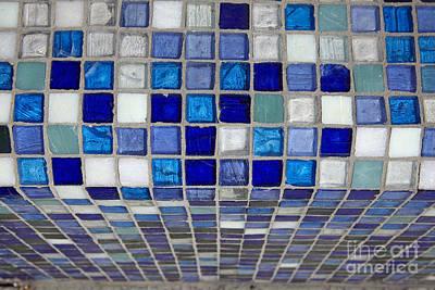 Mosaic Tile Art Print by Tony Cordoza