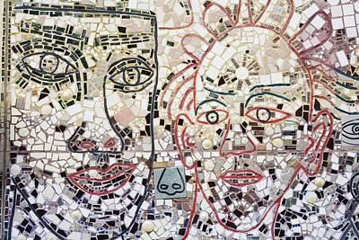 Mosaic Tiles On South Street Print by Richard Cummins