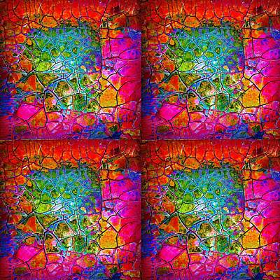 Mosaic Times Four Art Print by Carolyn Repka
