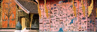 Figural Photograph - Mosaic, Wat Xien Thong, Luang Prabang by Panoramic Images