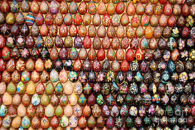 Photograph - Mosaic With Wooden Easter Eggs by Eva Kaufman