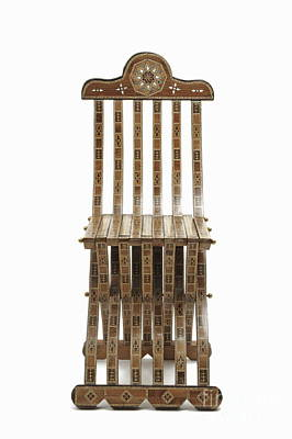 Mosaic Wooden Chair Art Print by Sami Sarkis