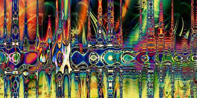 Digital Art - Mosaico De Colores by Kiki Art