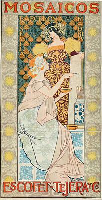 Mosaico Painting - Mosaicos Escofet-tejera Y Ca by Alexandre de Riquer