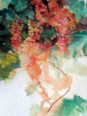 Grapeleaves Painting - Moscato by Susan Richardson-Kaumans