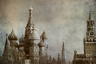 Moscow Art Print by Bernard Jaubert