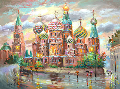 Painting - Moscow by Dmitry Spiros
