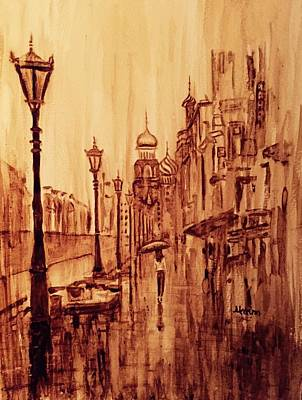 Coffee Painting - Moscow by Julee Nicklaus
