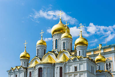 Moscow Kremlin Tour - 46 Of 70 Art Print by Alexander Senin