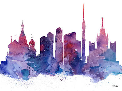 Moscow Wall Art - Painting - Moscow by Watercolor Girl