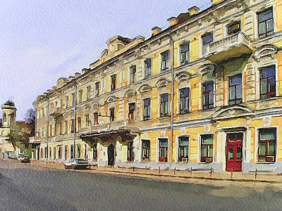 Moscow Old Streets 2 Art Print by Yury Malkov