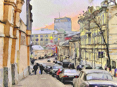 Moscow Old Streets 3 Art Print by Yury Malkov