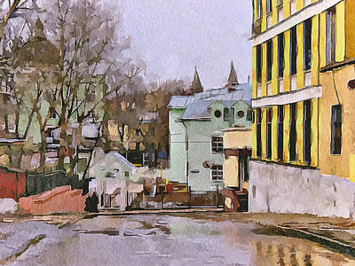 Moscow Old Streets 30 Art Print