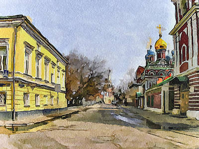 Moscow Digital Art - Moscow Old Streets 8 by Yury Malkov