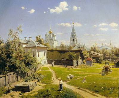 Moscow Painting - Moscow Patio by Vasily Dmitrievich Polenov