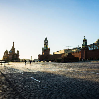 Moscow Red Square From North-west To South-east - Square Art Print by Alexander Senin