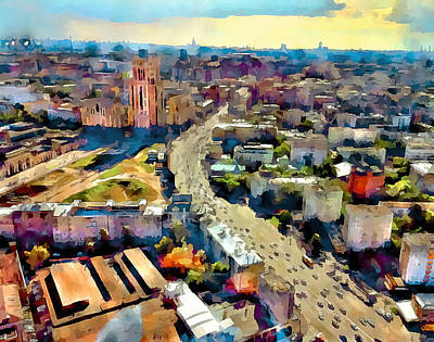 Progress Digital Art - Moscow Scape 2 by Yury Malkov
