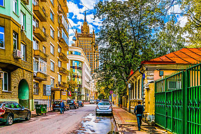 War And Peace Photograph - Moscow - Sivtsev Vrazhek Lane by Alexander Senin