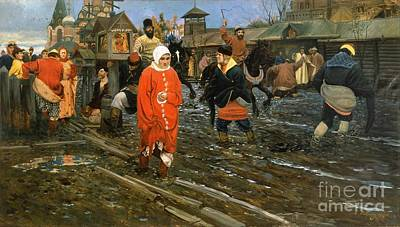 Painting - Moscow Street Scene 17th Century by Roberto Prusso
