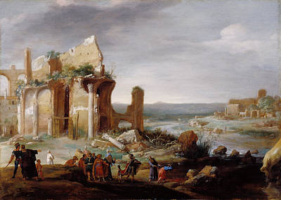 Change Painting - Moses And Aaron Changing The Rivers Of Egypt To Blood by Litz Collection