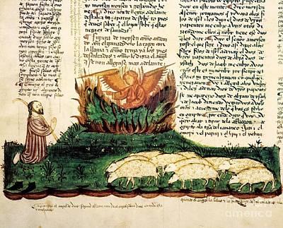 The Book Of Revelation Photograph - Moses At The Burning Bush, 1430 Artwork by Patrick Landmann