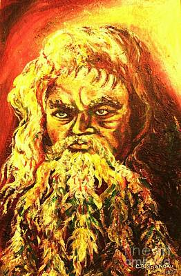 Ten Commandments Painting - Moses At The Burning Bush by Carole Spandau