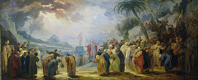 Choosing Drawing - Moses Choosing The Seventy Elders, Jacob De Wit by Litz Collection