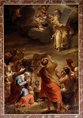 Ten Commandments Painting - Moses Descends From Mount Siniai With The Ten Commandments by Ferdinand Bol