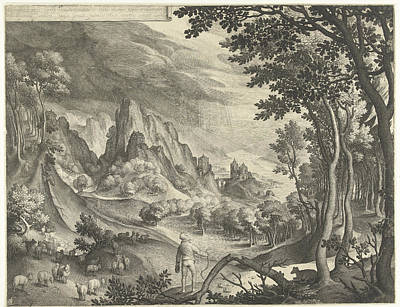 Moses Is Addressed By God On Mount Horeb Art Print by Nicolaes De Bruyn