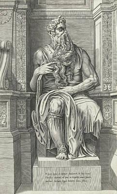Bos Bos Drawing - Moses, Possibly Cornelis Bos by Cornelis Bos