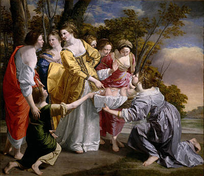 Save Water Painting - Moses Saved From The Waters by Orazio Gentileschi