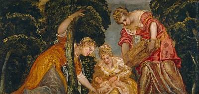 Save Water Painting - Moses Saved From The Waters by Tintoretto