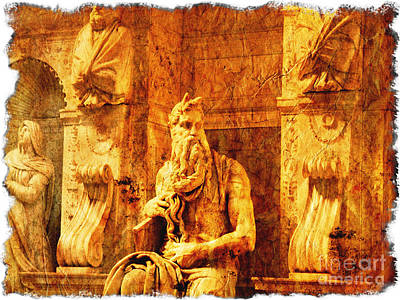Old Testament Digital Art - Moses by Stefano Senise